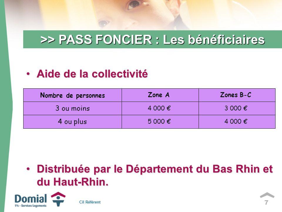7 Aide de la collectivitéAide de la collectivité Distribuée par le Département du Bas Rhin et du Haut-Rhin.Distribuée par le Département du Bas Rhin et du Haut-Rhin.