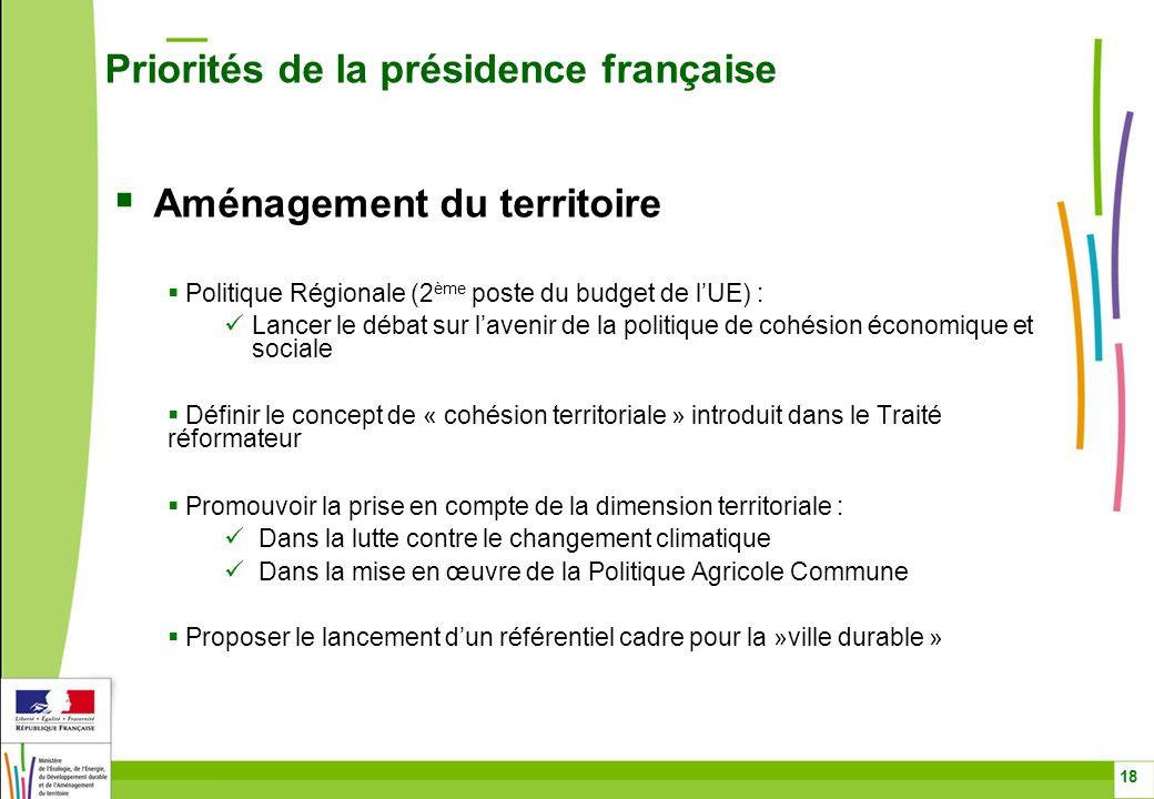Aménagement du territoire Politique Régionale (2 ème poste du budget de lUE) : Lancer le débat sur lavenir de la politique de cohésion économique et s