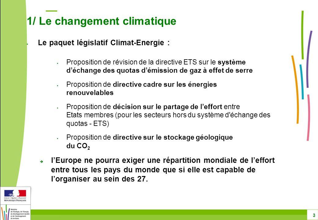 Proposition de révision de la directive ETS sur le système déchange des quotas démission de gaz à effet de serre Proposition de directive cadre sur le