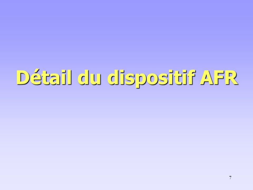 18 Règles de mise en œuvre Définition : la PAT est une Aide à Finalité Régionale (la seule AFR d Etat).