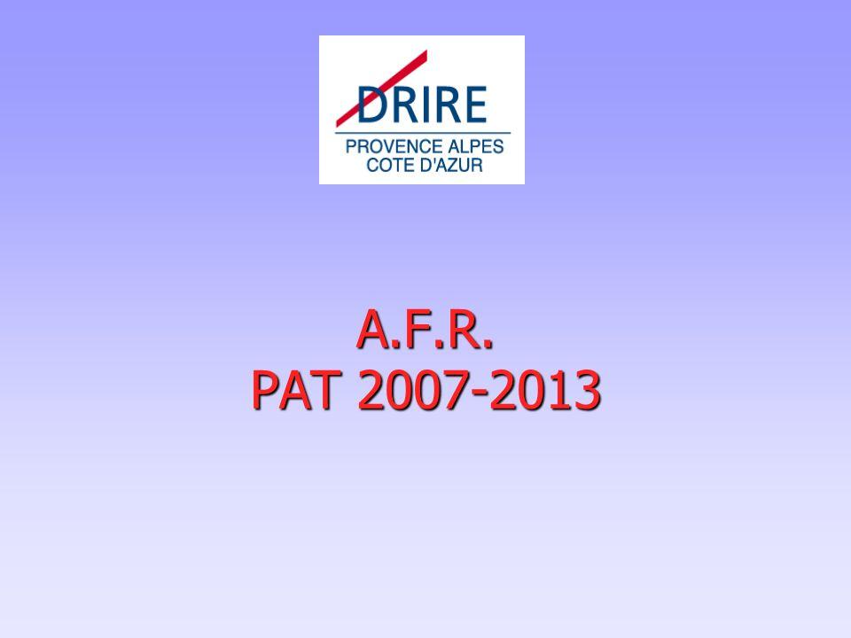 9 Plan de la présentation Dispositif AFR PAT « Industrie et Services » (anciennement PAT industrie et PAT Tertiaire)