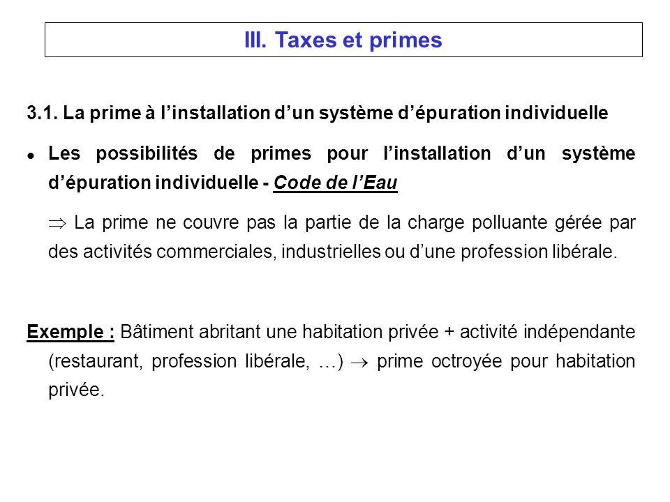 3.1. La prime à linstallation dun système dépuration individuelle l Les possibilités de primes pour linstallation dun système dépuration individuelle