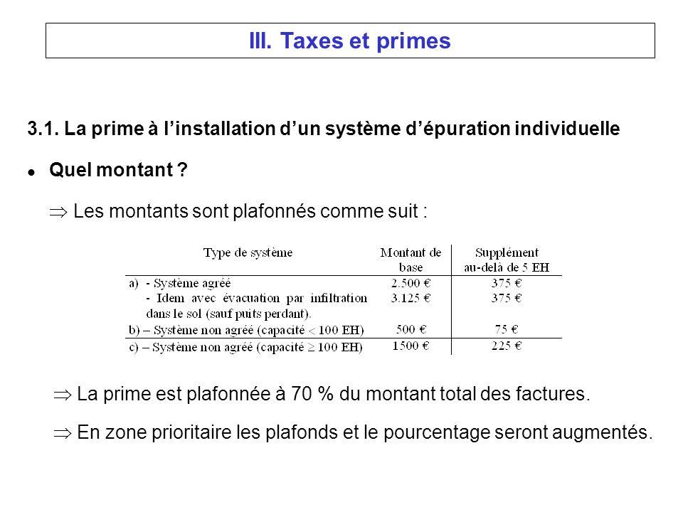 3.1. La prime à linstallation dun système dépuration individuelle l Quel montant .