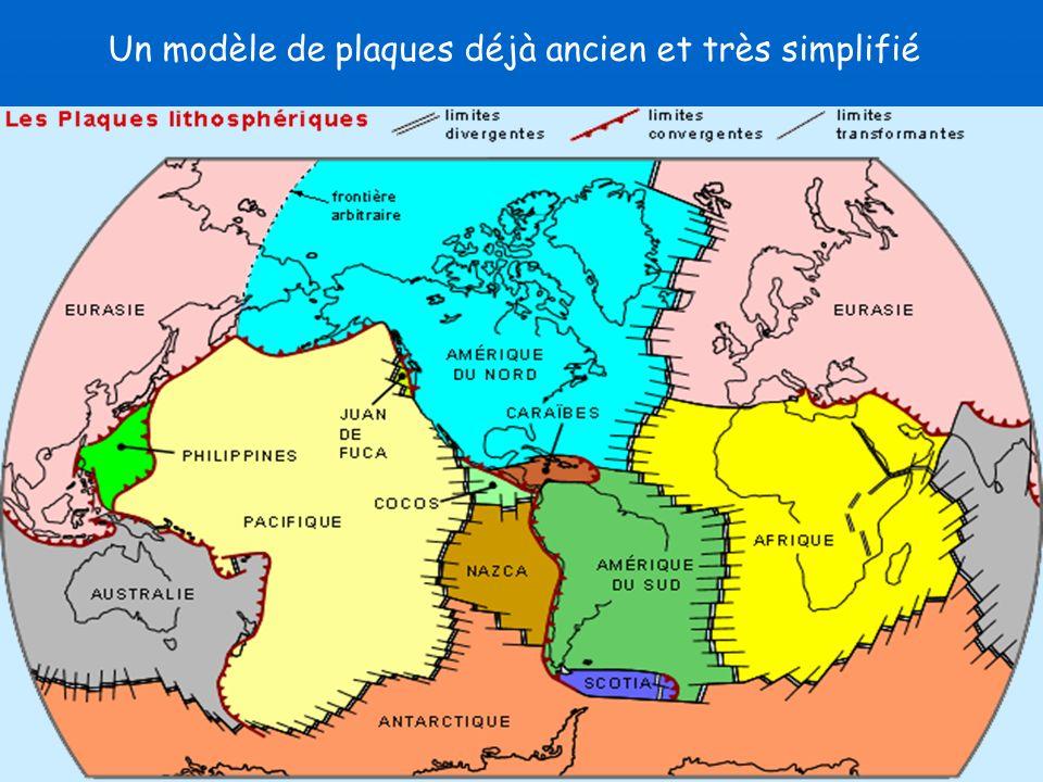Un modèle de plaques déjà ancien et très simplifié