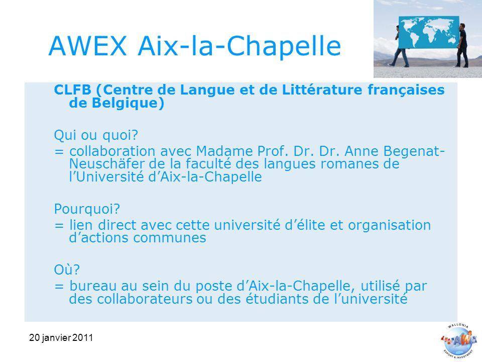 20 janvier 2011 AWEX Aix-la-Chapelle CLFB (Centre de Langue et de Littérature françaises de Belgique) Qui ou quoi.