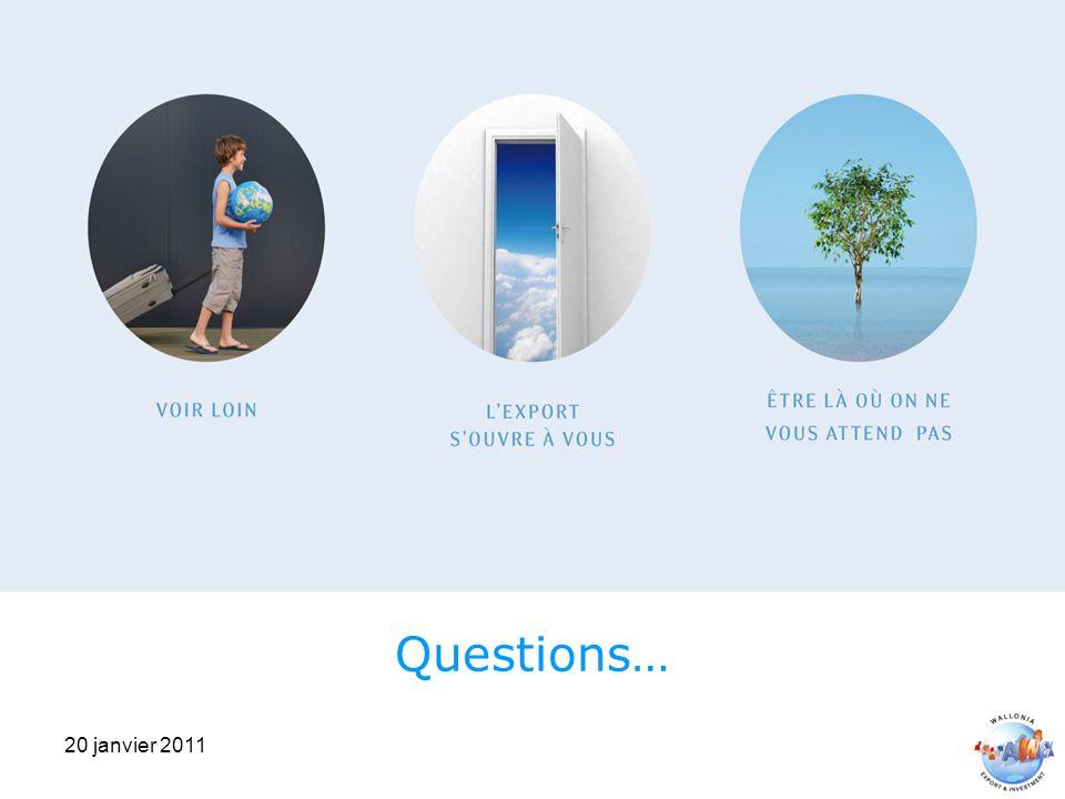 20 janvier 2011 Questions…