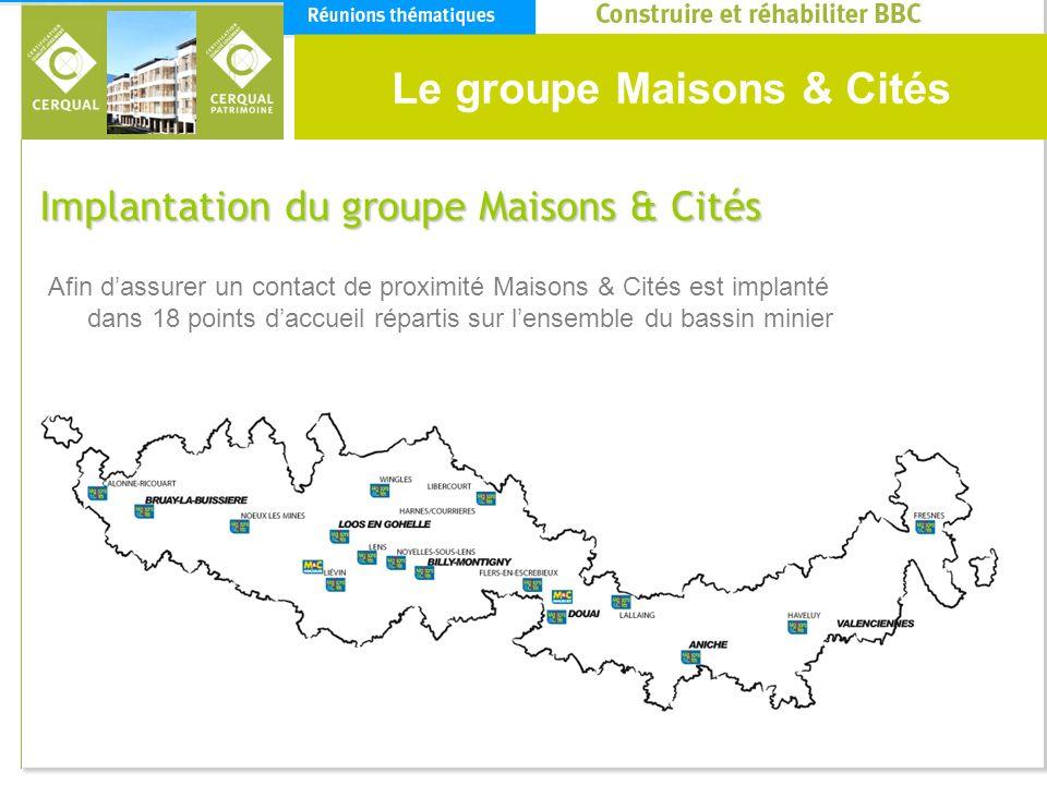 Le groupe Maisons & Cités Implantation du groupe Maisons & Cités Afin dassurer un contact de proximité Maisons & Cités est implanté dans 18 points dac