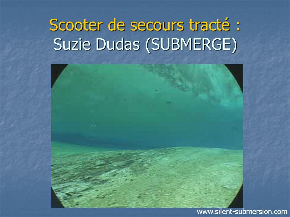 Scooter de secours tracté : Suzie Dudas (SUBMERGE) www.silent-submersion.com