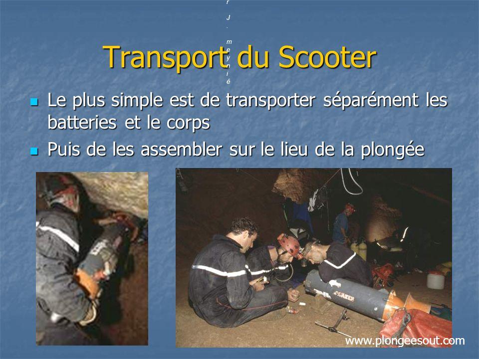 Transport du Scooter Le plus simple est de transporter séparément les batteries et le corps Le plus simple est de transporter séparément les batteries