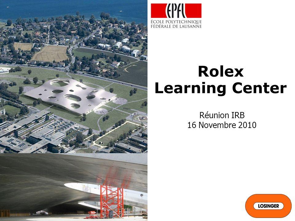 Rolex Learning Center Réunion IRB 16 Novembre 2010