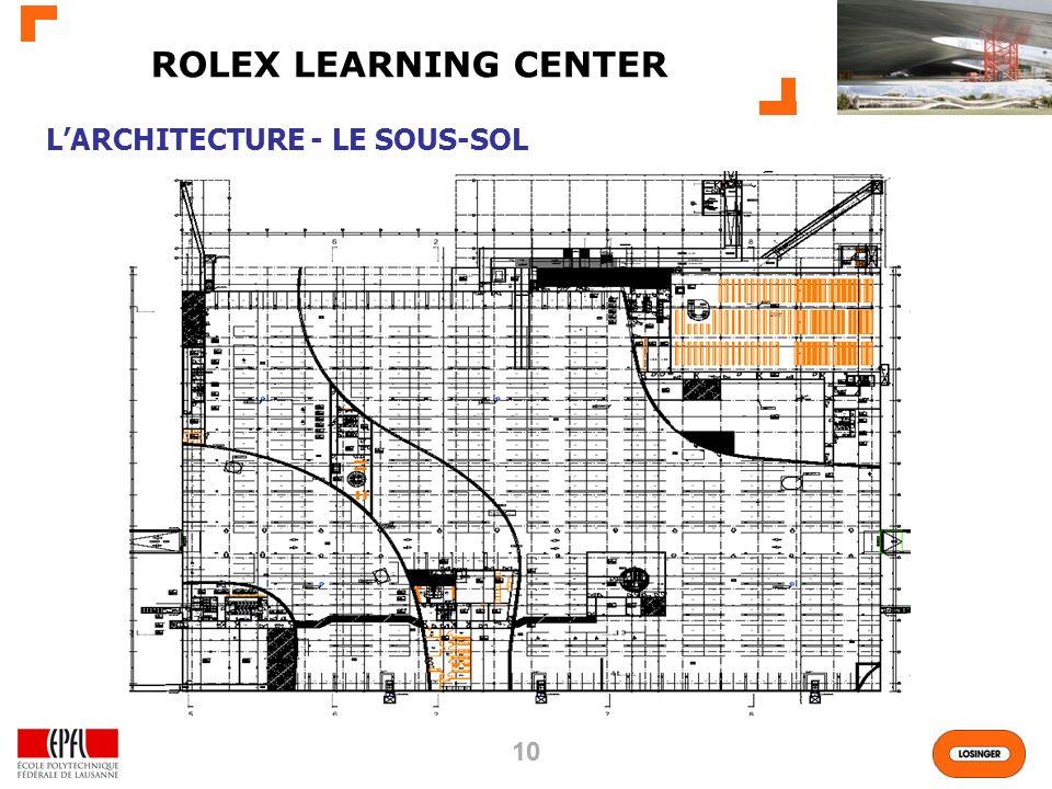 10 ROLEX LEARNING CENTER LARCHITECTURE - LE SOUS-SOL
