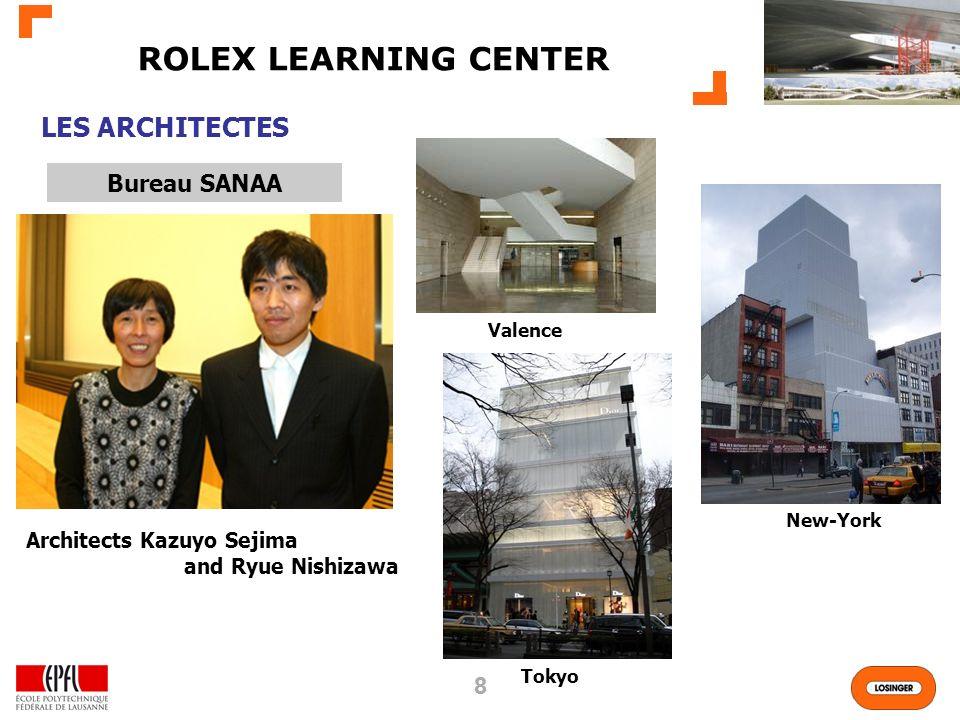 88 ROLEX LEARNING CENTER LES ARCHITECTES Bureau SANAA Valence New-York Architects Kazuyo Sejima and Ryue Nishizawa Tokyo