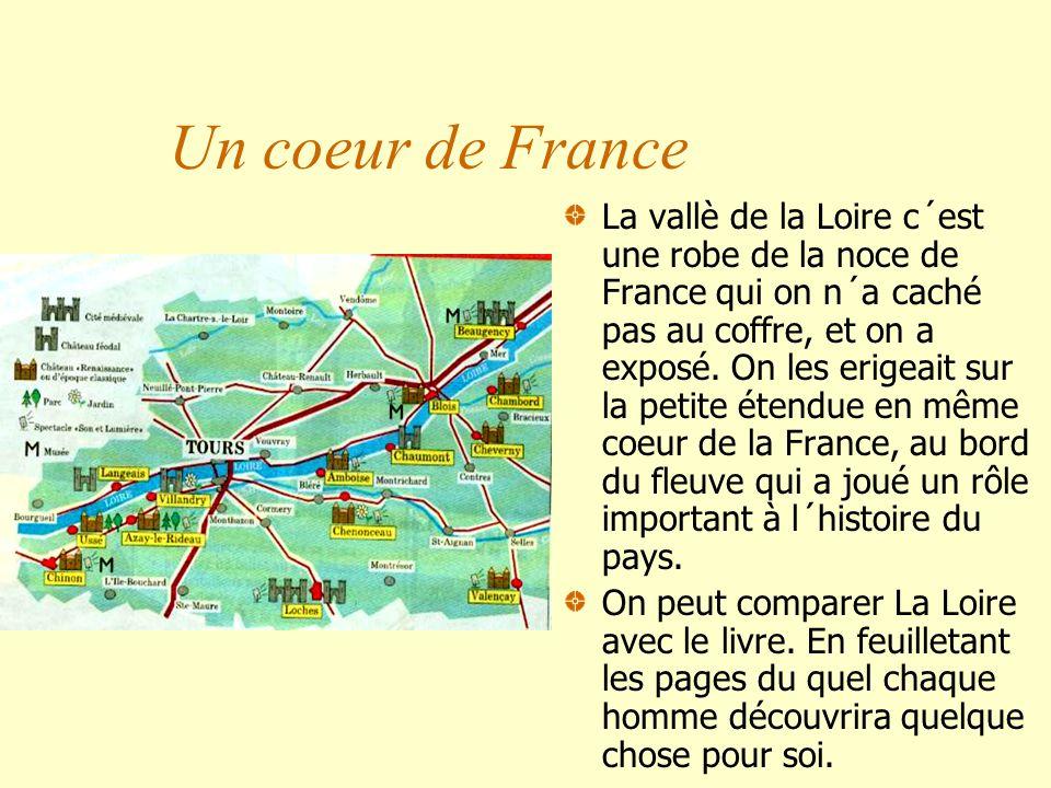 Un coeur de France La vallè de la Loire c´est une robe de la noce de France qui on n´a caché pas au coffre, et on a exposé. On les erigeait sur la pet