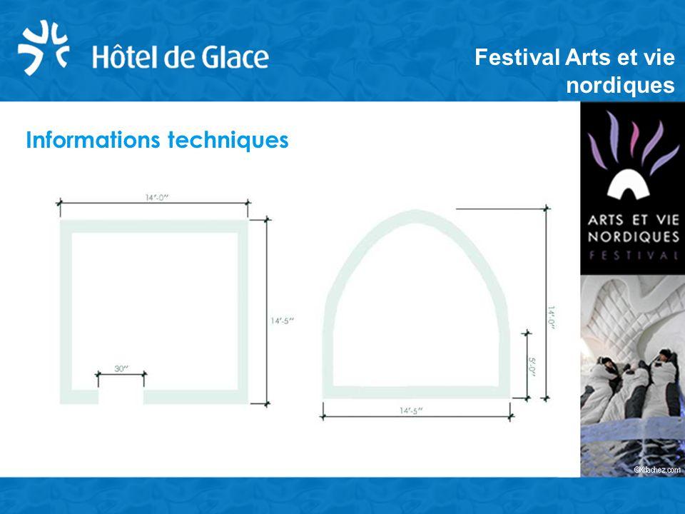 Informations techniques Festival Arts et vie nordiques