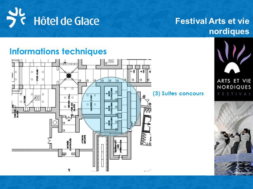 Informations techniques (3) Suites concours Festival Arts et vie nordiques