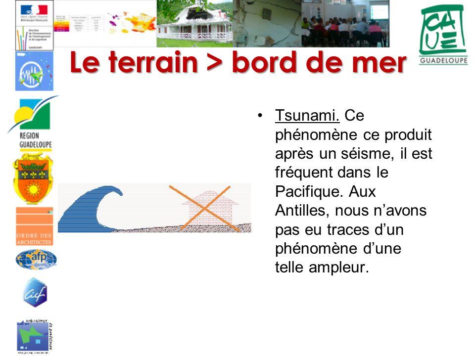 Le terrain > bord de mer Tsunami.
