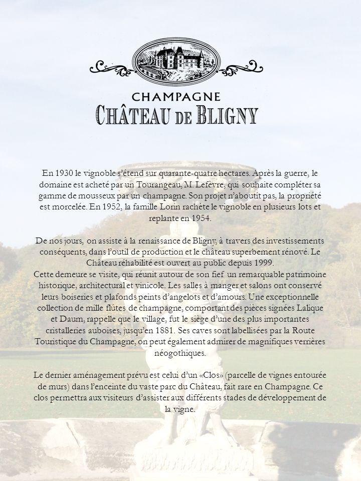 En 1930 le vignoble sétend sur quarante-quatre hectares. Après la guerre, le domaine est acheté par un Tourangeau, M. Lefèvre, qui souhaite compléter