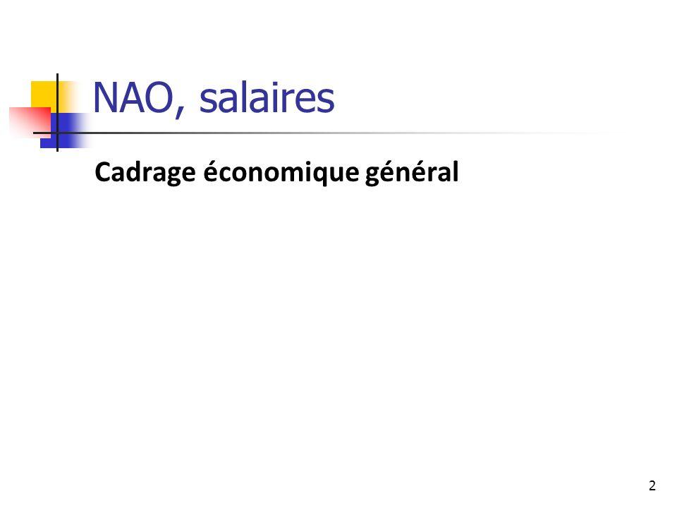 2 NAO, salaires Cadrage économique général