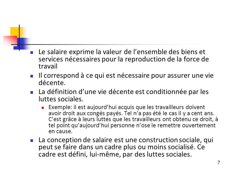 28 La France, le pays où le travail ne coûte pas si cher que cela Le « coût du travail » en France, y compris les cotisations sociales, se situe dans la moyenne des pays qui ont à peu près le même niveau de développement économique et social.