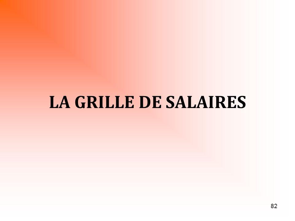 82 LA GRILLE DE SALAIRES