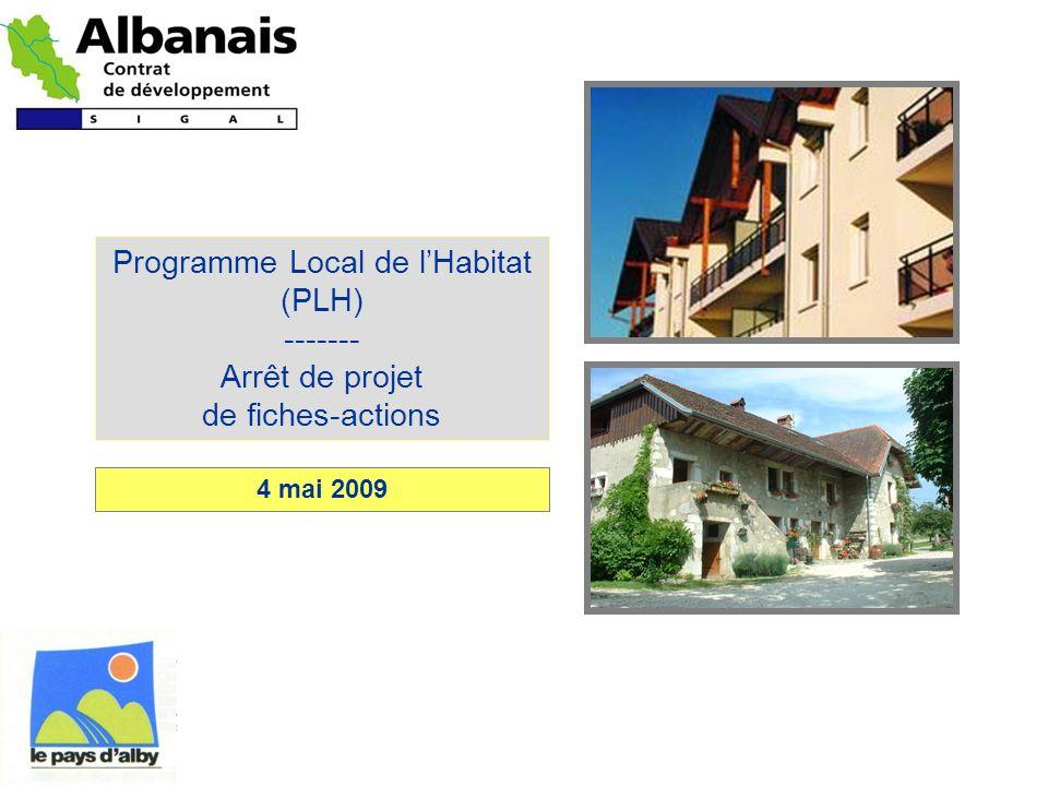 Programme Local de lHabitat (PLH) ------- Arrêt de projet de fiches-actions 4 mai 2009