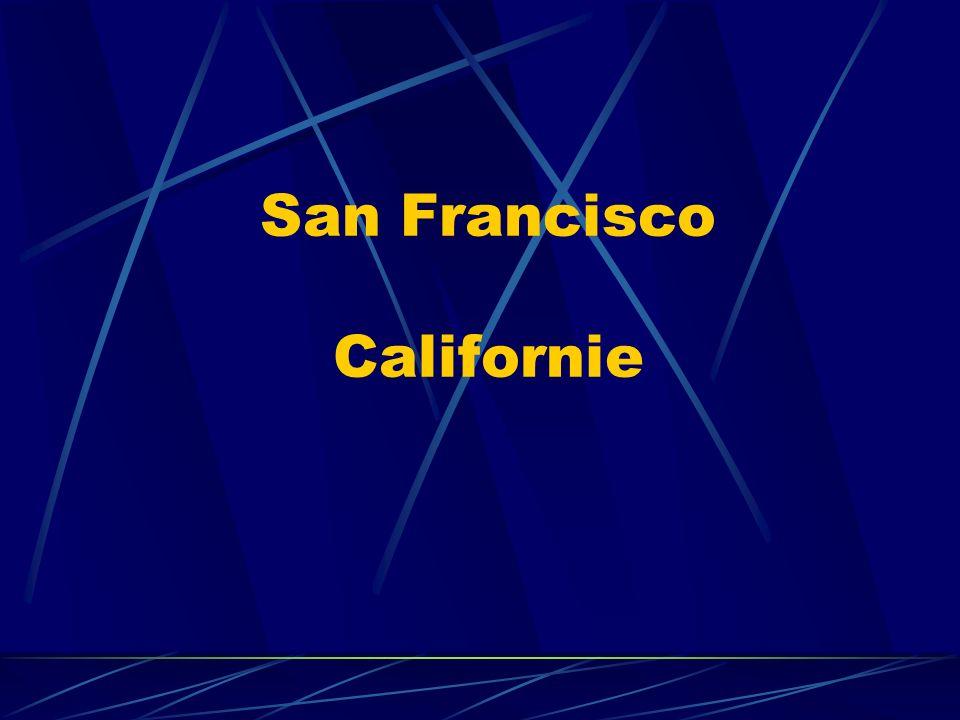 San Francisco Troisième ville des Etats-Unis.En californie.