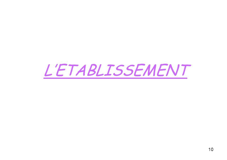 10 LETABLISSEMENT