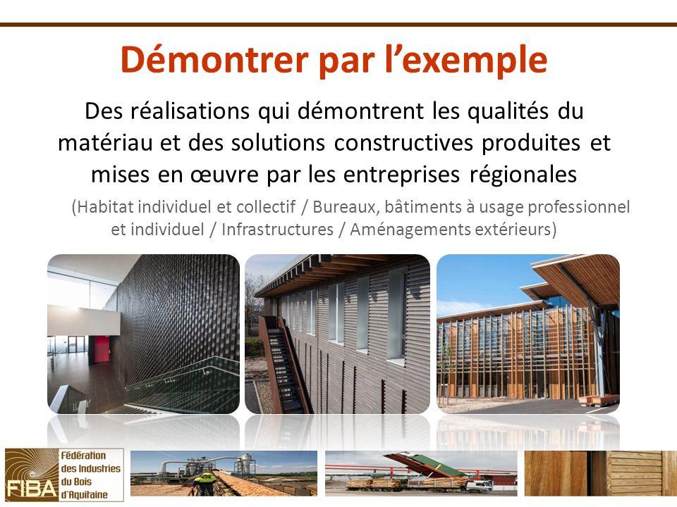 Démontrer par lexemple Des réalisations qui démontrent les qualités du matériau et des solutions constructives produites et mises en œuvre par les ent