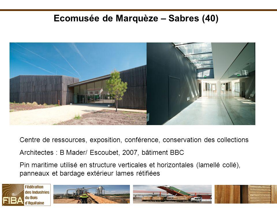 Ecomusée de Marquèze – Sabres (40) Centre de ressources, exposition, conférence, conservation des collections Architectes : B Mader/ Escoubet, 2007, b