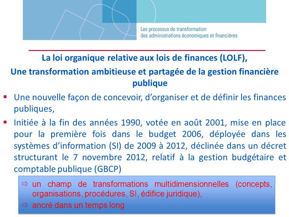 La loi organique relative aux lois de finances (LOLF), Une transformation ambitieuse et partagée de la gestion financière publique Une nouvelle façon