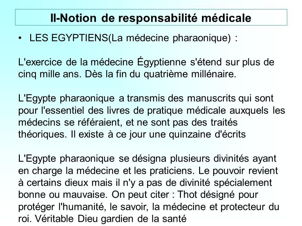 LES EGYPTIENS(La médecine pharaonique) : L'exercice de la médecine Égyptienne s'étend sur plus de cinq mille ans. Dès la fin du quatrième millénaire.