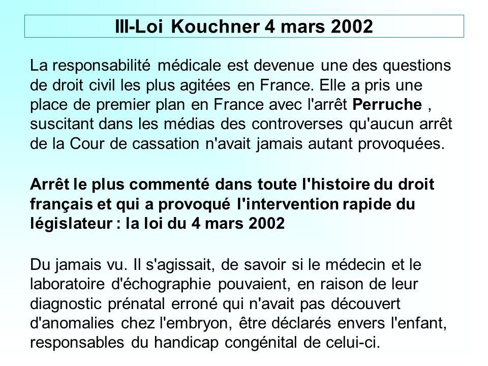 La responsabilité médicale est devenue une des questions de droit civil les plus agitées en France. Elle a pris une place de premier plan en France av