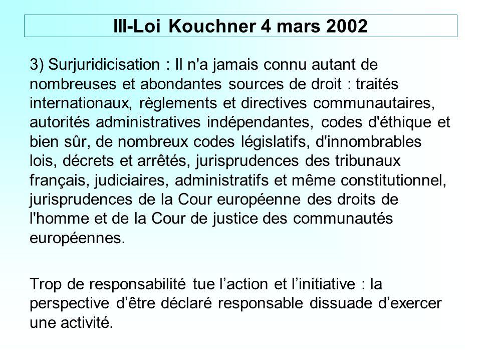 3) Surjuridicisation : Il n'a jamais connu autant de nombreuses et abondantes sources de droit : traités internationaux, règlements et directives comm