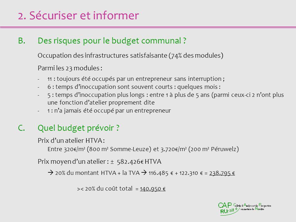 2. Sécuriser et informer B.Des risques pour le budget communal .