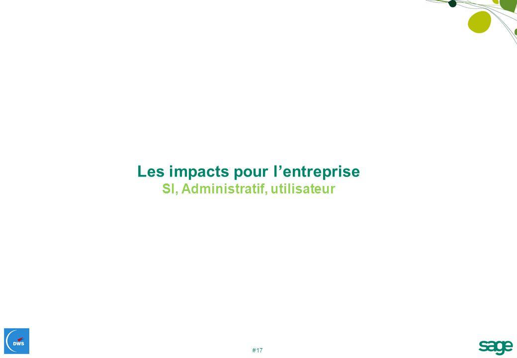 #17 Les impacts pour lentreprise SI, Administratif, utilisateur