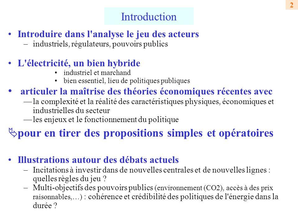 3 Apports de l IDEI à l économie du secteur électrique –1989 : EDF partenaire de l IDEI depuis sa création Formation des ingénieurs et économistes d EDF aux théories modernes de l économie industrielle et de la réglementation (6 à 9 séminaires par an) –Outils de base (théorie des jeux, éco.