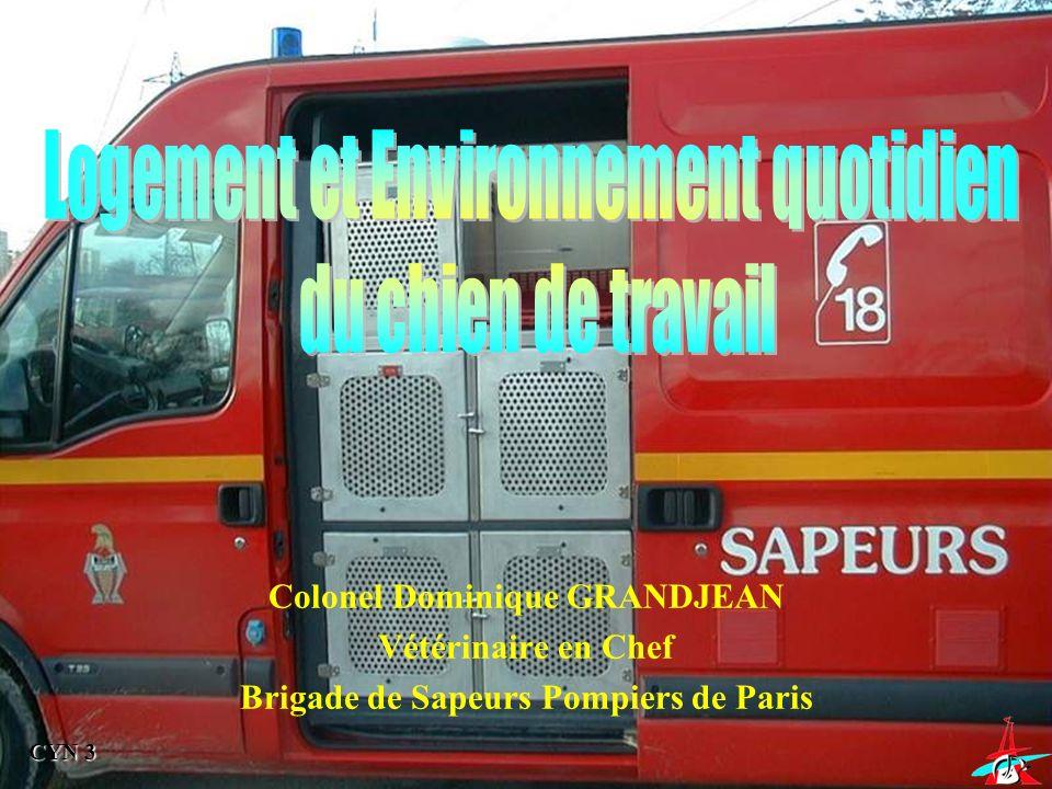 CYN 3 Colonel Dominique GRANDJEAN Vétérinaire en Chef Brigade de Sapeurs Pompiers de Paris