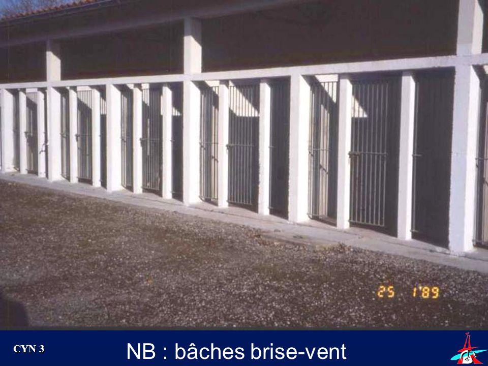 NB : bâches brise-vent CYN 3