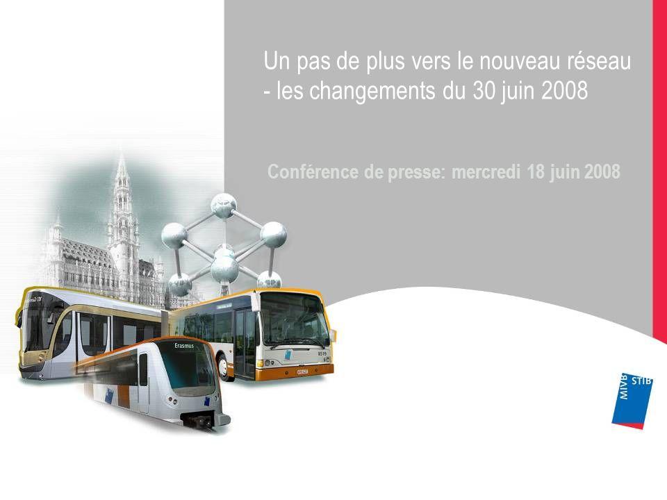 Un pas de plus vers le nouveau réseau - les changements du 30 juin 2008 Conférence de presse: mercredi 18 juin 2008