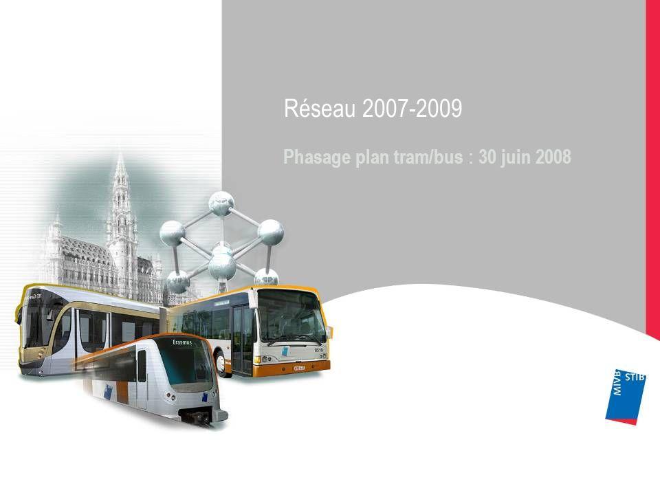 Réseau 2007-2009 Phasage plan tram/bus : 30 juin 2008