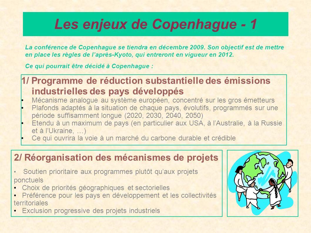 1/ Programme de réduction substantielle des émissions industrielles des pays développés Mécanisme analogue au système européen, concentré sur les gros