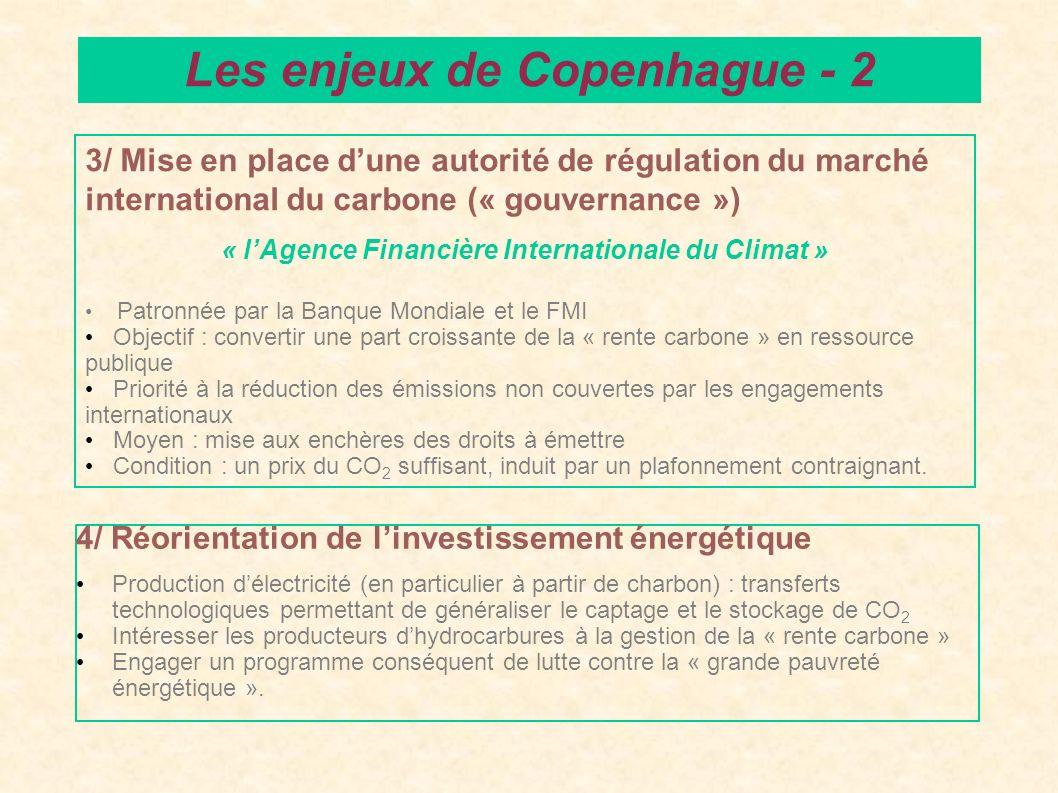 4/ Réorientation de linvestissement énergétique Production délectricité (en particulier à partir de charbon) : transferts technologiques permettant de