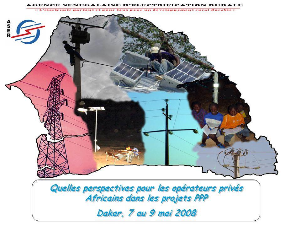 Quelles perspectives pour les opérateurs privés Africains dans les projets PPP Dakar, 7 au 9 mai 2008 Quelles perspectives pour les opérateurs privés Africains dans les projets PPP Dakar, 7 au 9 mai 2008