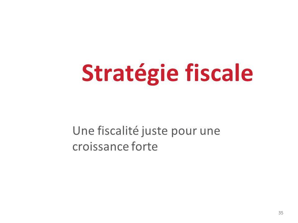 35 Stratégie fiscale Une fiscalité juste pour une croissance forte