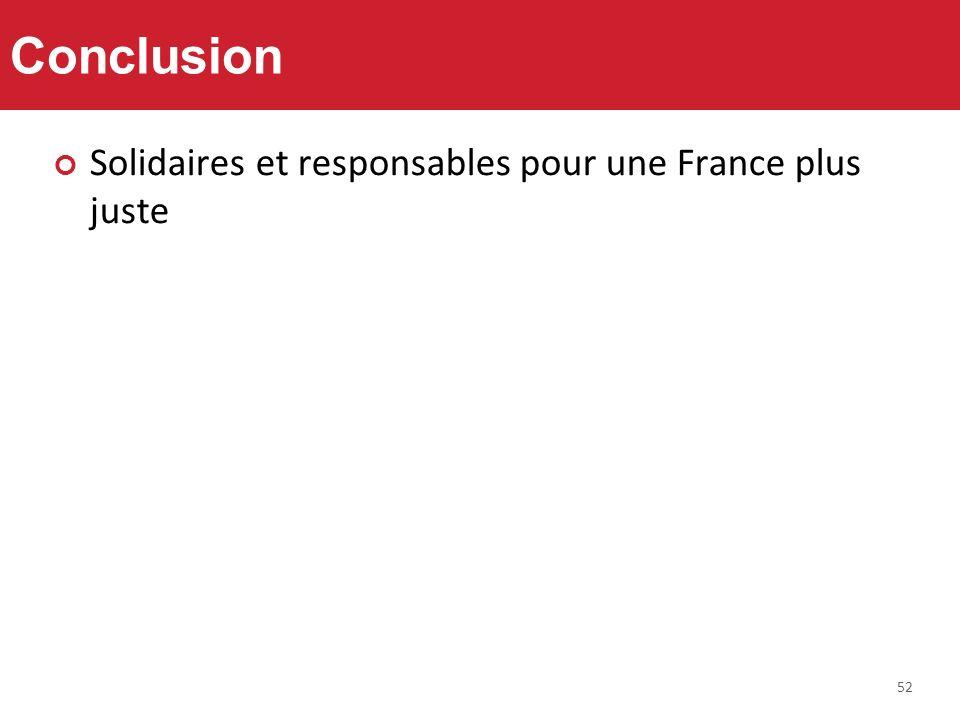 52 Conclusion Solidaires et responsables pour une France plus juste