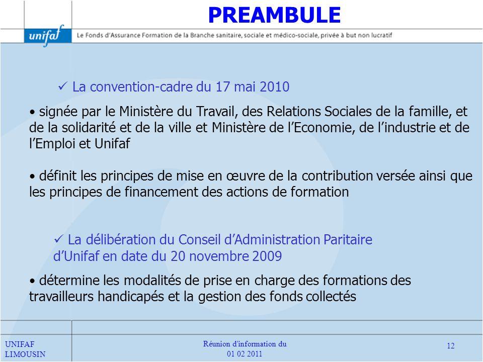 La convention-cadre du 17 mai 2010 signée par le Ministère du Travail, des Relations Sociales de la famille, et de la solidarité et de la ville et Min