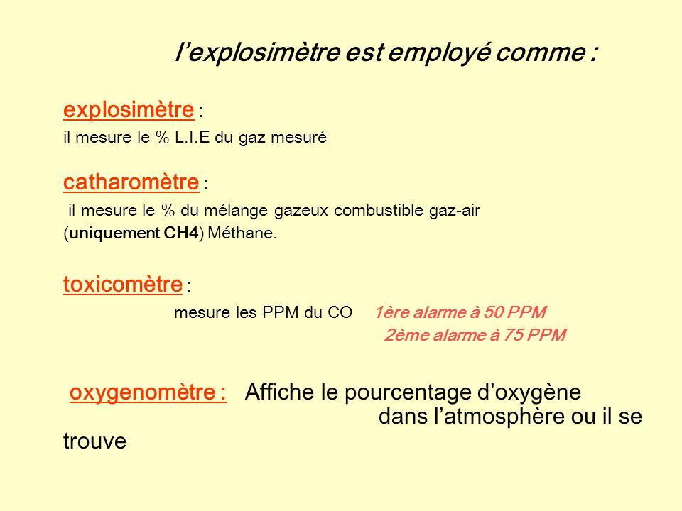 Fonctionnement du Oldham MX 2000 description Lexplosimètre fonctionne selon le principe de combustion catalytique sur filament: – Dans une chambre de