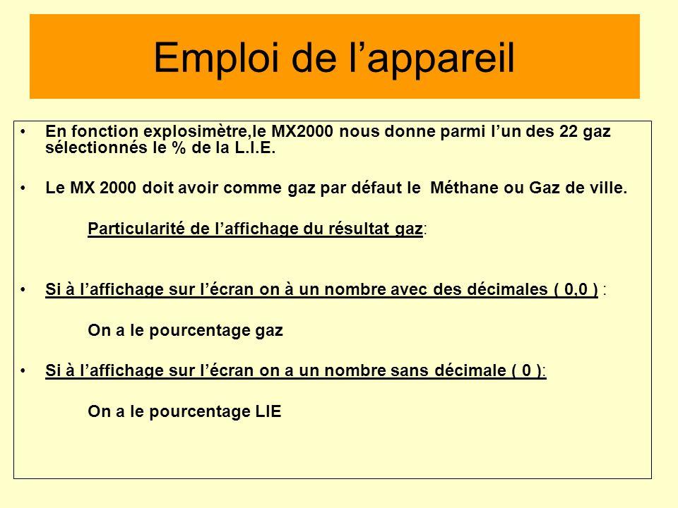 lexplosimètre est employé comme : explosimètre : il mesure le % L.I.E du gaz mesuré catharomètre : il mesure le % du mélange gazeux combustible gaz-ai