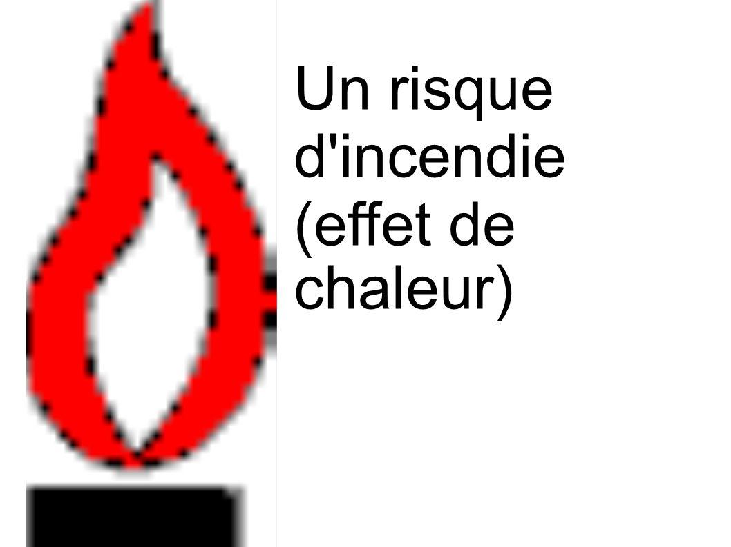 Un risque d'incendie (effet de chaleur)