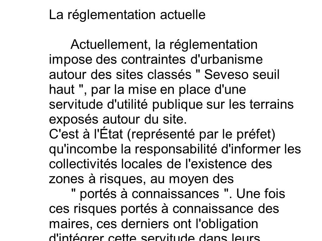 La réglementation actuelle Actuellement, la réglementation impose des contraintes d'urbanisme autour des sites classés